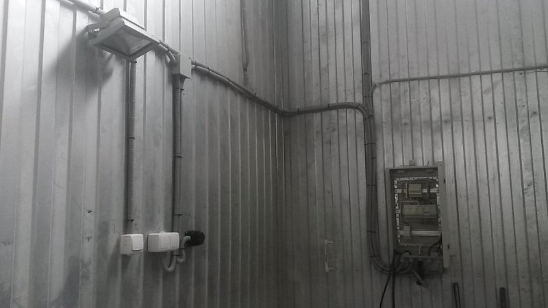 Электромонтаж в производственных и складских помещениях